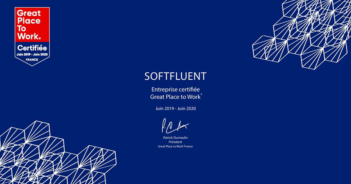 SoftFluent certifiée Great Place to Work