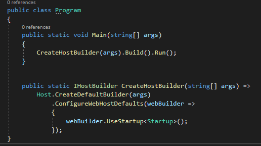 Program.cs CreateDefaultBuilder